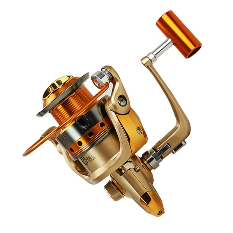 High Quality Full Metal wire cups 12 BB Rotary reels Fishing reels All metal rocker 1000-9000 series Fishing reel fishing wheels