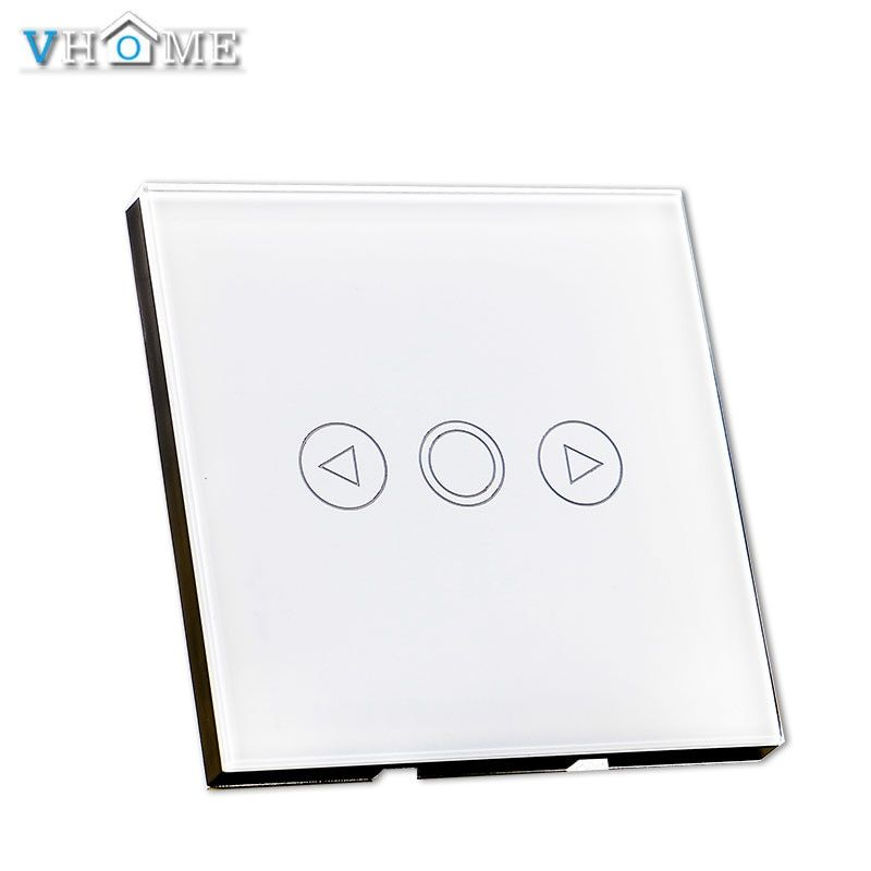 Vhome Smart Dimmer Switch, EU 86 type Wall LED Lamp Fan dimming color RF433Mhz switch ,Dimmable Spot Lights For Smart House