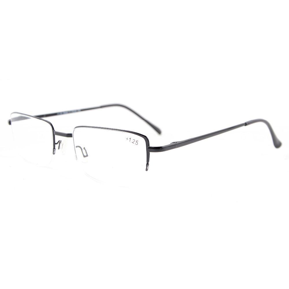 Readers Spring Hinges Half-rim Reading Glasses KMD01-17