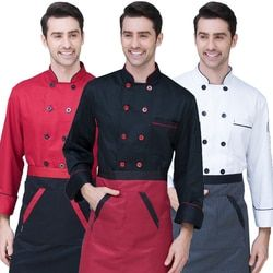New chef lengan Panjang Bernapas Pakaian Musim Panas Memakai Pakaian Kerja Pria dan Wanita Mantel Hotel Chef Overall Hitam jaket Seragam