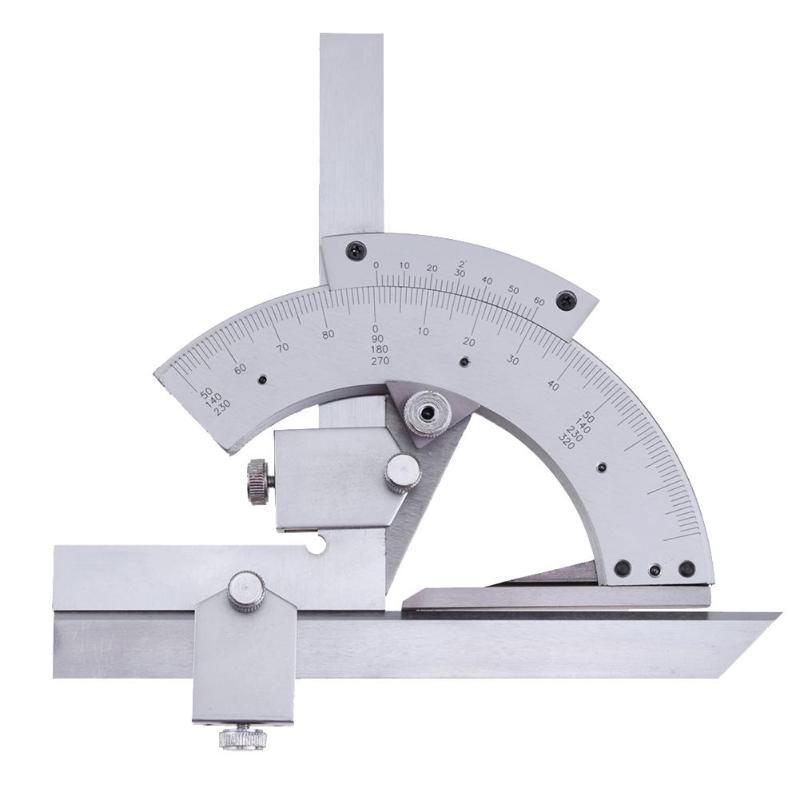 Universal Protractor 0-320 Degree Precision Goniometer Angle Measuring Finder Ruler Tool Inner and outer Parts Measuring Tools