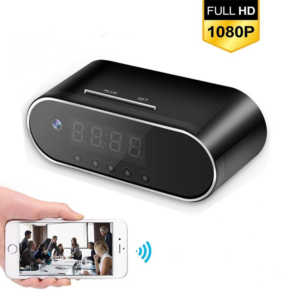 À distance Détection Mini Horloge Caméra D'alarme P2P Livecam IR Nuit Vision Wifi Cam IP 1080 p Mini DV DVR Caméscope invisible caché