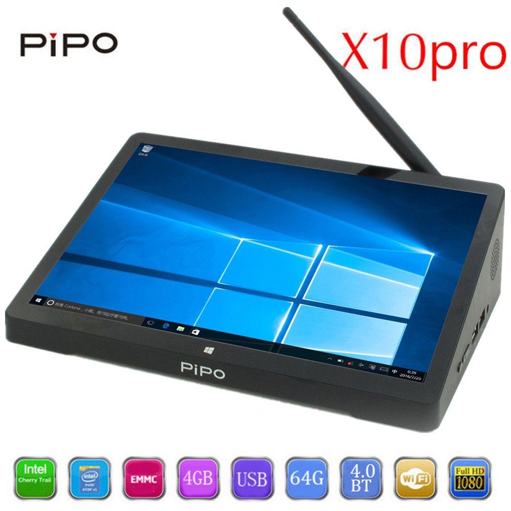 PIPO X10 pro TV Box 10.8 inch IPS Mini PC Windows 10 Andriod 5.1 Intel Cherrytrail Z8350 WiFi Bluetooth4.0 HDMI 4GB RAM 64G ROM