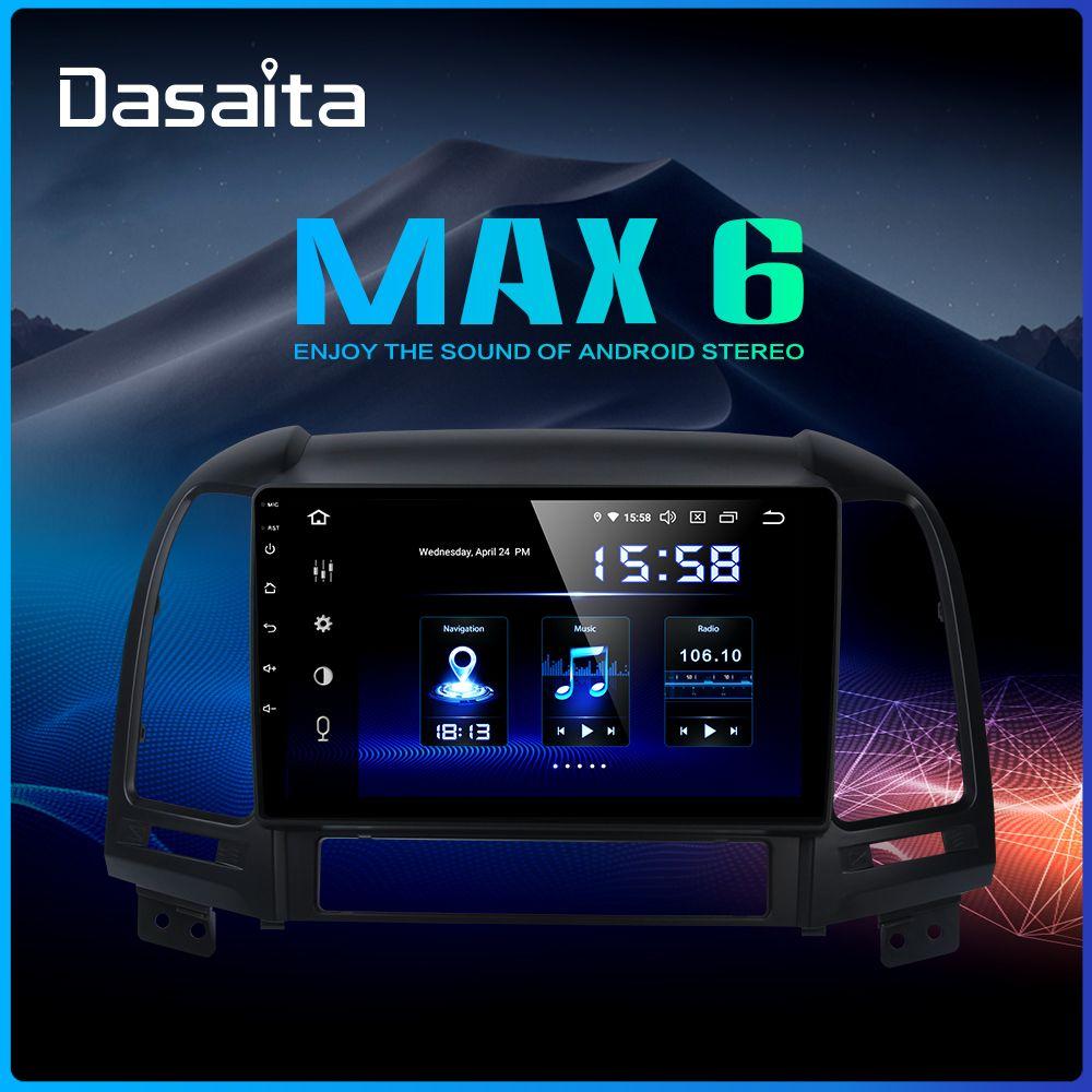 Dasaita 9 IPS Auto Stereo DSP Radio Android 9.0 für Hyundai Santa Fe 2006 2007 2008 2009 2010 2011 USB multimedia Navigation