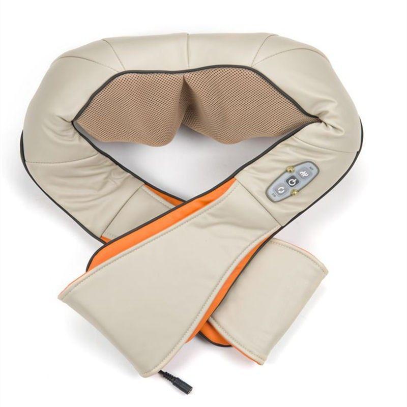 GPYOJA U Forme Électrique Shiatsu Retour Cou Épaule Masseur Corps Infrarouge 3D Pétrissage de Massage de Haute Qualité