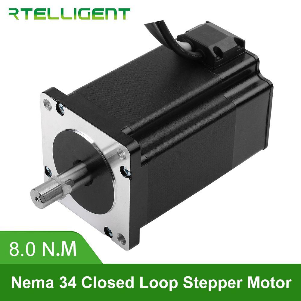 Fabrik Outlet Nema 34 86A8EC 8.0N.M 6.0A 2 Phase Hybird CNC Geschlossen Schleife Stepper Motor Einfach Servo Motor Schritt- servo mit Encoder
