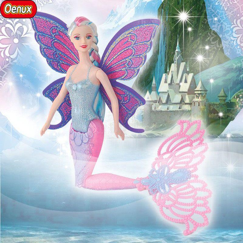 Oenux 2017 Mode Enfants Sirène Poupées Jouet De Natation Moxie Sirène Poupée Princesse Ariel Poupées Bonecas Filles Jouets Pour Cadeaux D'anniversaire