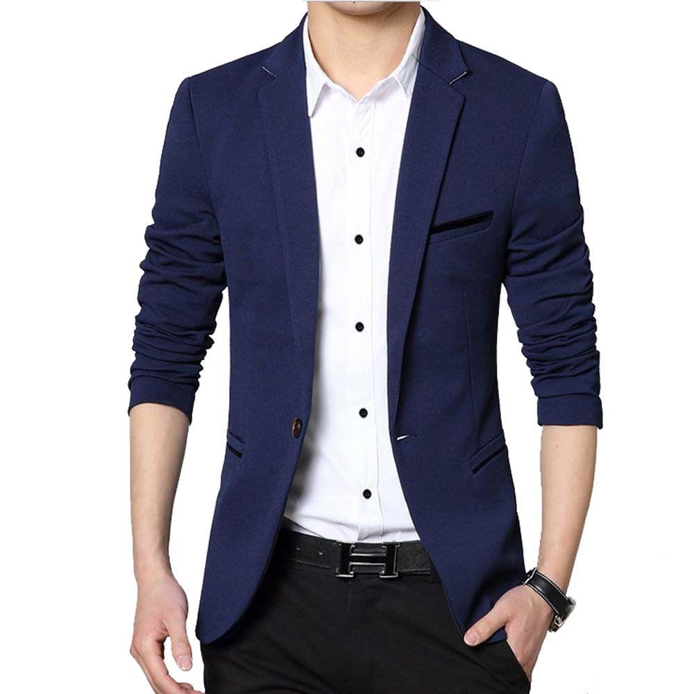 Men Casual Suit Business Style Fashion Design Men's Long Sleeve Slim fit Suits Masculine Blazer one Button Suits