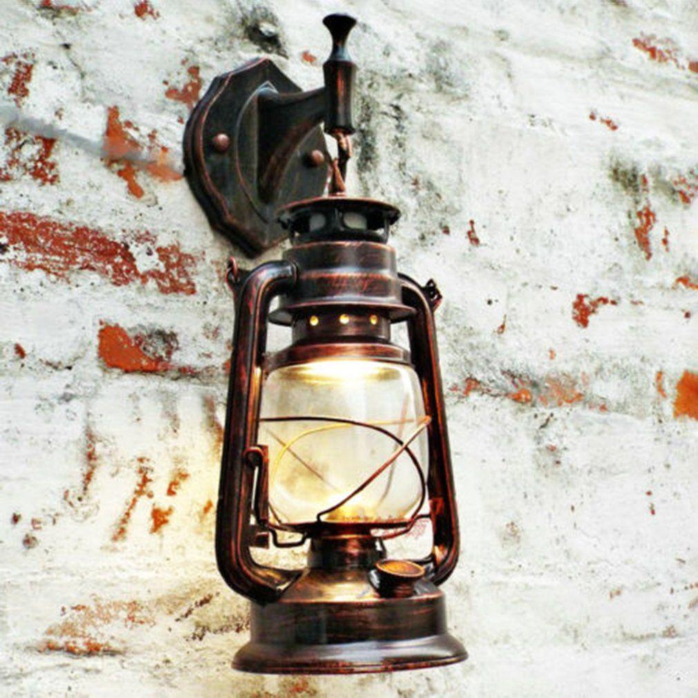 E27 Vintage Lantern Wall Mounted Antique Lamp Sconce Light For Bar Corridor Outdoor Garden Backyard Lamp Black/Red copper/Bronze