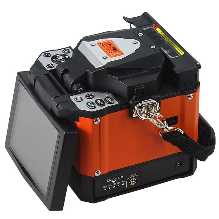 A-80S Orange Automatische Fusion Splicer Maschine Fiber Optic Fusion Splicer Spleißen Maschine
