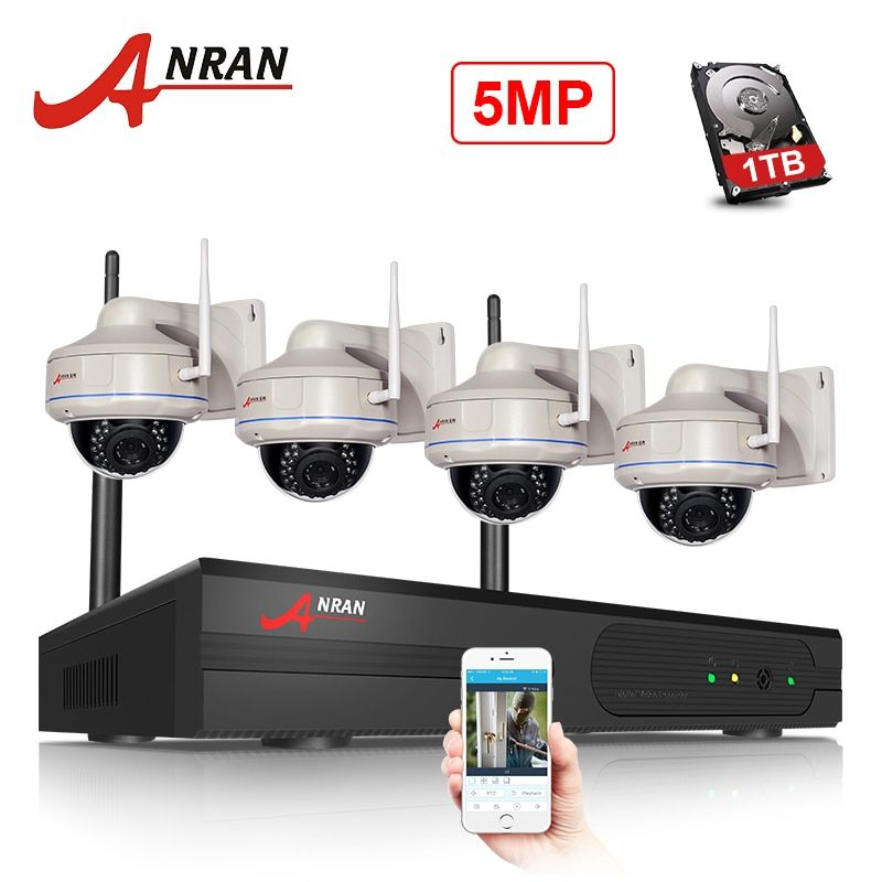 ANRAN CCTV Security System 5MP H.265 HD Motion Dection Record Home Wireless Security Camera Waterproof Video Surveillance Kit