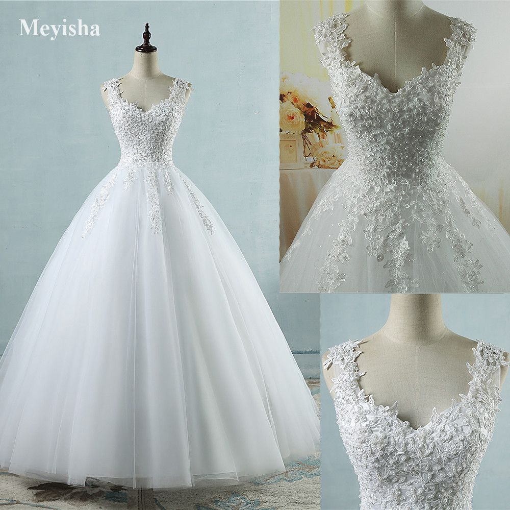 ZJ9076 robe de Bal Images Réelles Robe De Mariée Tulle De Mariage robe 2016 avec Perles Robes De Mariée Robe de Mariage De Mariage robes
