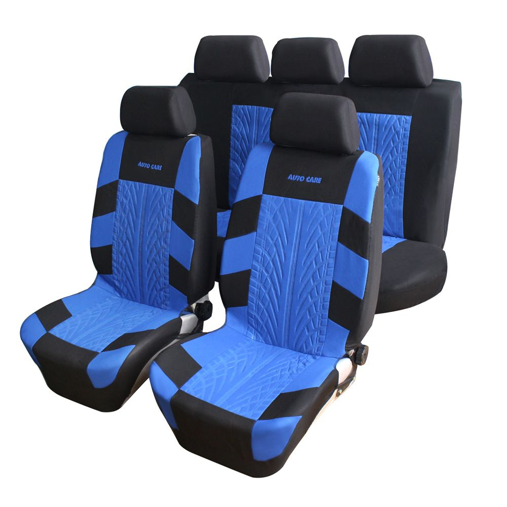 High Quality Embroidery Car Seat Covers Set Universal Fit Most Cars Covers with Tire Track Detail Styling Car Seat Protector
