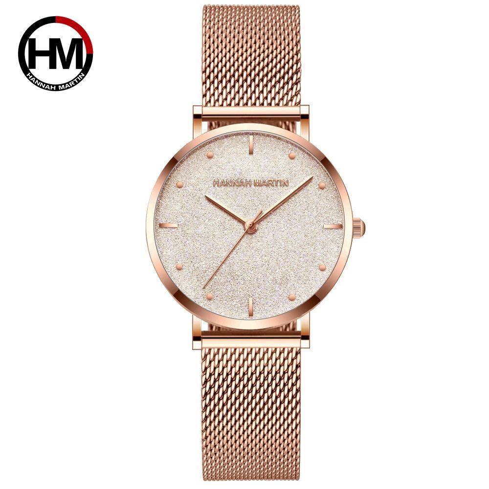 Women Watches Top Brand Luxury Japan Quartz Movement Stainless Steel Sliver White Dial Waterproof Wristwatches relogio feminino