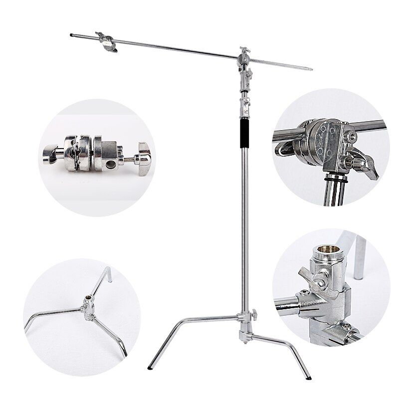 Multi-function Photography Studio Heavy Lighting Century C Stand with Folding Legs, Grip Head and Arm Kit