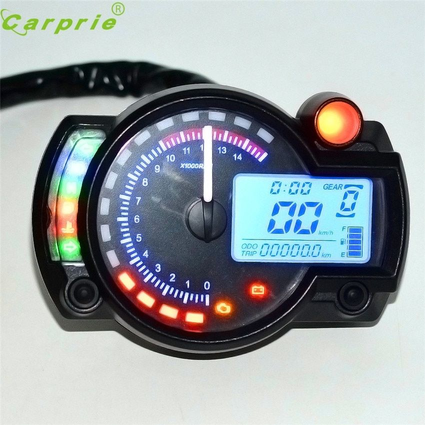 Dependable car styling Backlight LCD Digital Motorcycle Speedometer Odometer Motor Bike Tachometer My17 dropshipping
