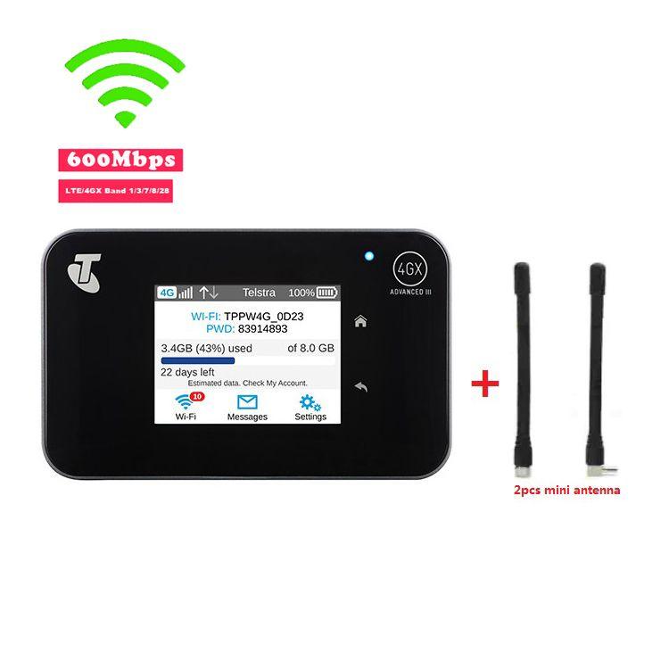 Original Unlocked Aircard AC810S 810S Cat11 600Mbps 4GX Advanced III 4G LTE Mobile Hotspot + 2pcs Antenna