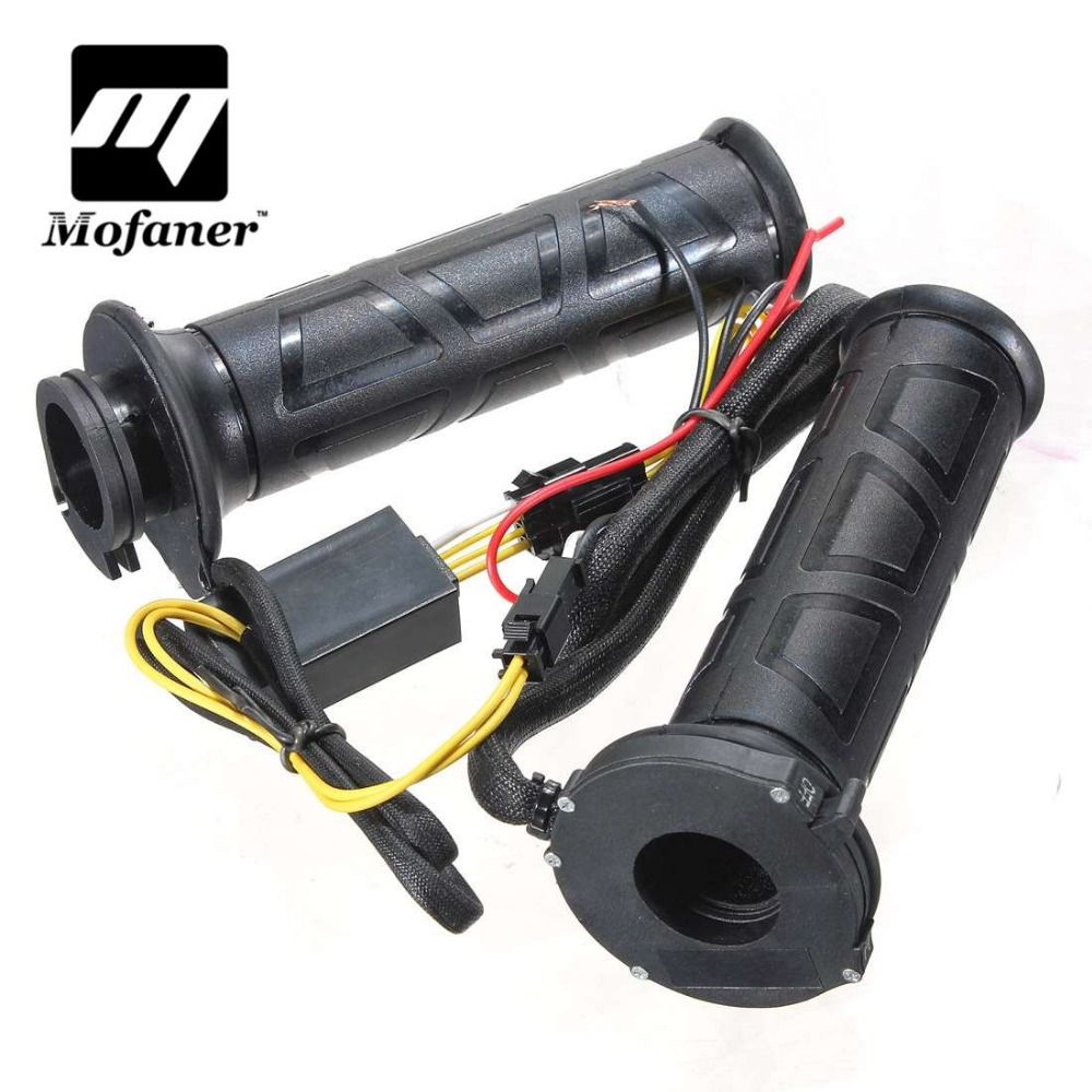 22mm Black 7/8 Inch Motos Motorcycle handlebar Electric Hot Heated Grips Handle Handlebar Warmer