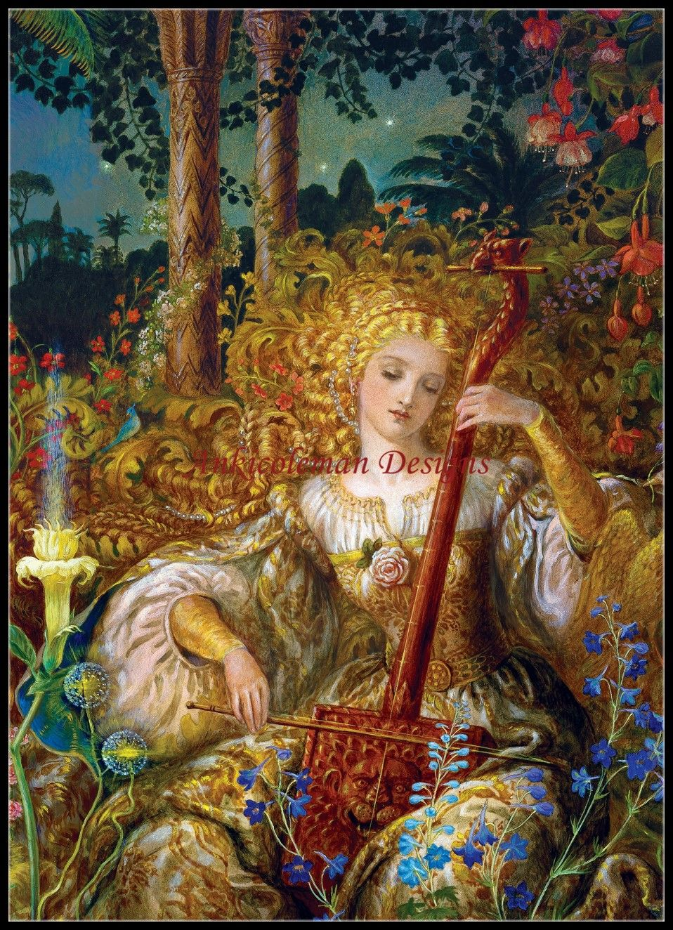 Needlework for embroidery DIY French DMC High Quality - Counted Cross Stitch Kit 14 ct Oil painting - Song for the Basilisk
