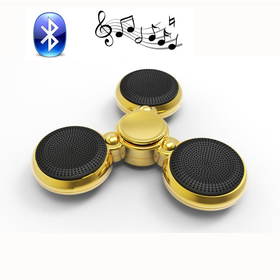 Lumineux Music Player Tri Fidget EDC Hand Spinner Fidget Spinner Bluetooth Speaker With Microphone Anti Stress For adult  gift