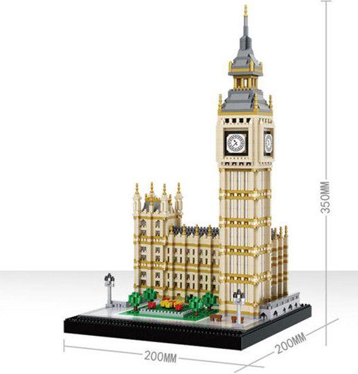 3600 PCS Berühmte architektur serie London Big Ben zu montieren blöcke Bausteine Bricks Kompatibel Legoingly