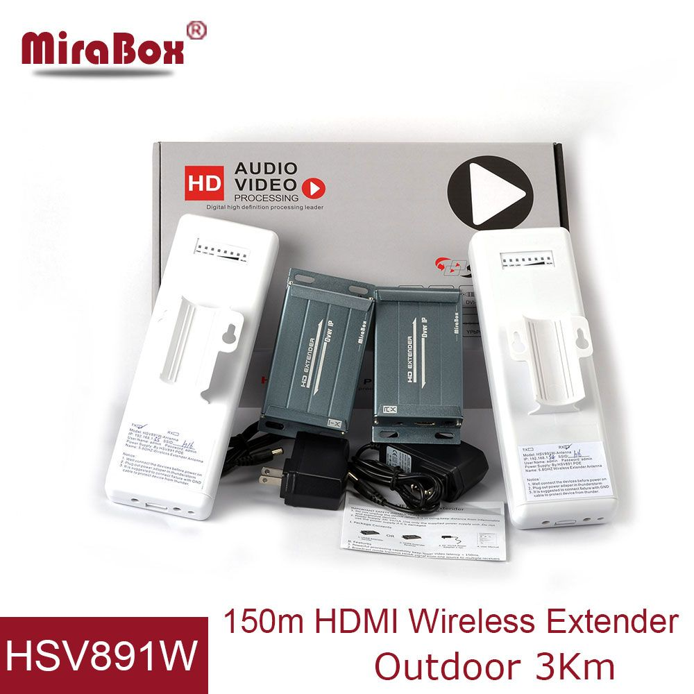 Industrial Standard WiFi HDMI Extender Support Plug And Play IR Romote Control POE Function 1080P Full HD Wireless HDMI Extender