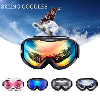 Лыжные очки, двойные линзы UV400 Анти-туман лыжный снег Очки Лыжный Спорт Для мужчин Для женщин зимние сноуборд очки, лыжная маска Очки 2017 Новы...