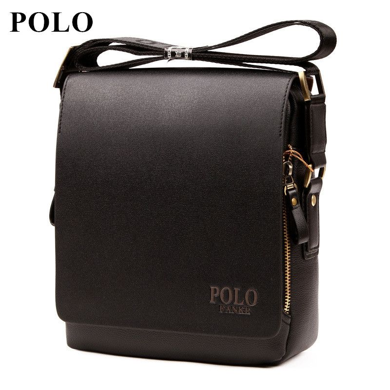 2018 POLO New Arrival Fashion Business pu Leather Men Messenger Bags <font><b>Promotional</b></font> Crossbody Shoulder Bag Casual Man Bag