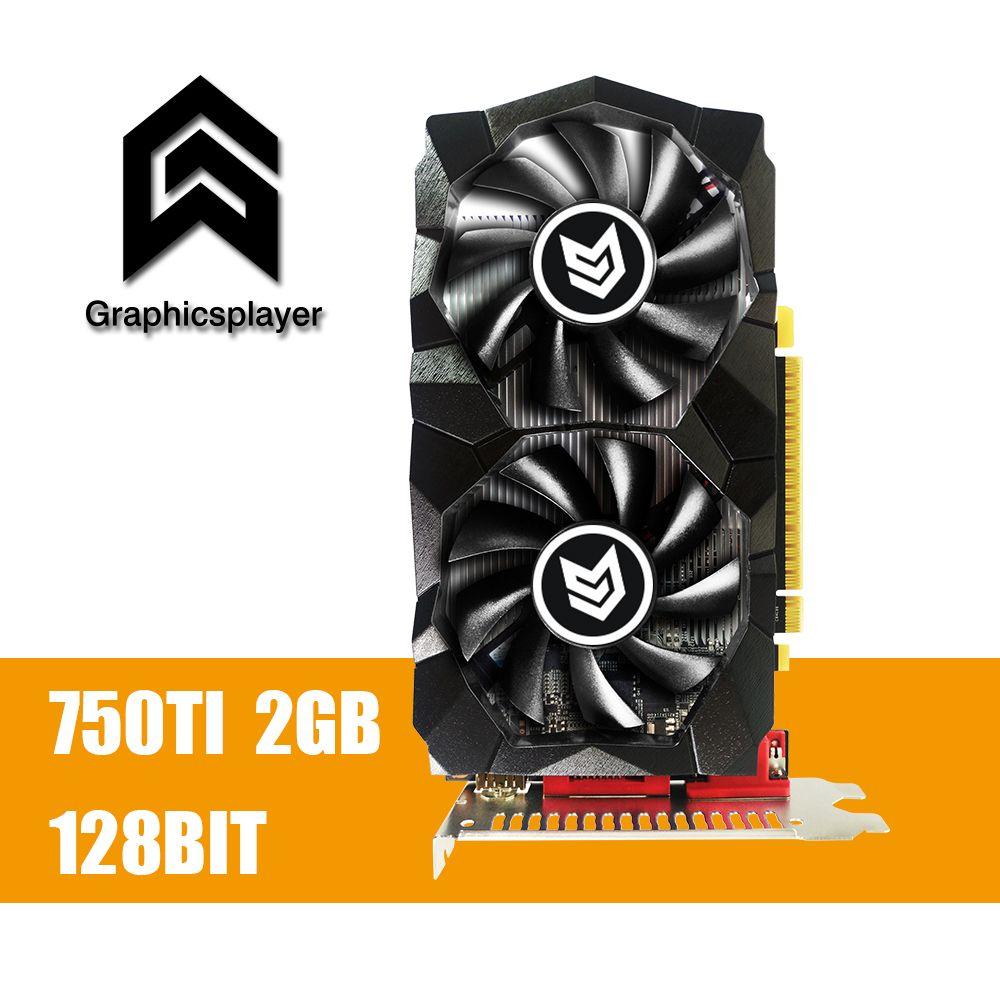 Graphics Card GTX 750TI 2048MB/2GB 128bit GDDR5 Placa de Video carte graphique Video Card for NVIDIA Geforce PC VGA
