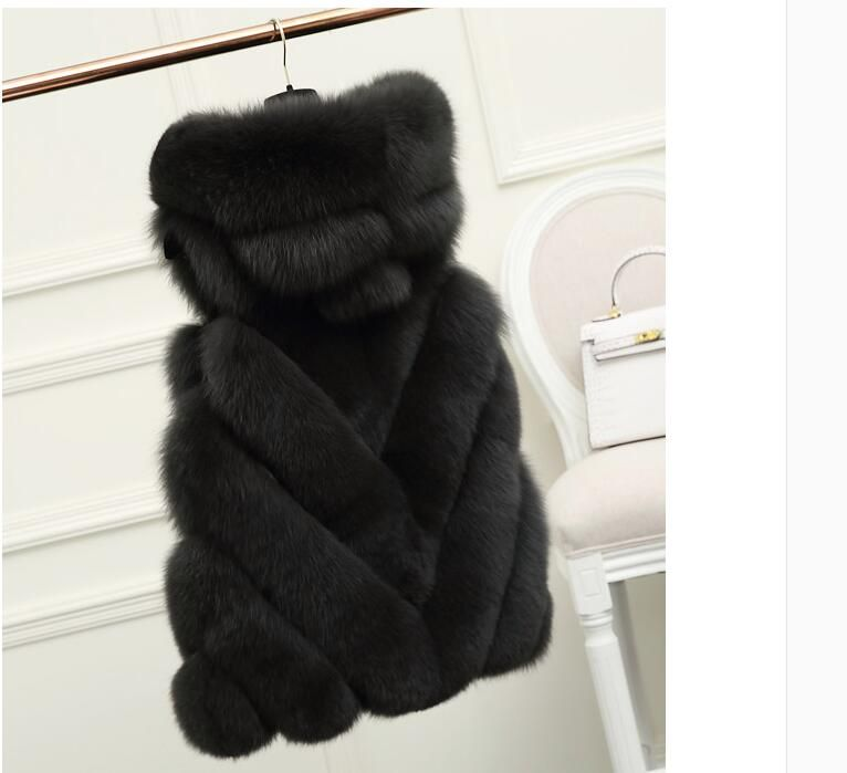 European Best selling v-Style Hooded natural fox fur vest waistcoat stylish winter fur coats jackets wholeasale