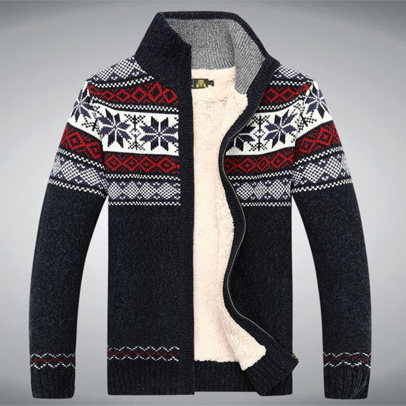 Coton Laine 2017 Pull d'hiver Épaissir Polaire Hommes Cardigan Blusa Masculina hommes Sweatercoat Taille S-3XL