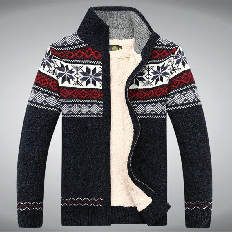 Coton laine 2017 hiver pull épaissir polaire hommes Cardigan Blusa Masculina hommes Sweatercoat taille S-3XL