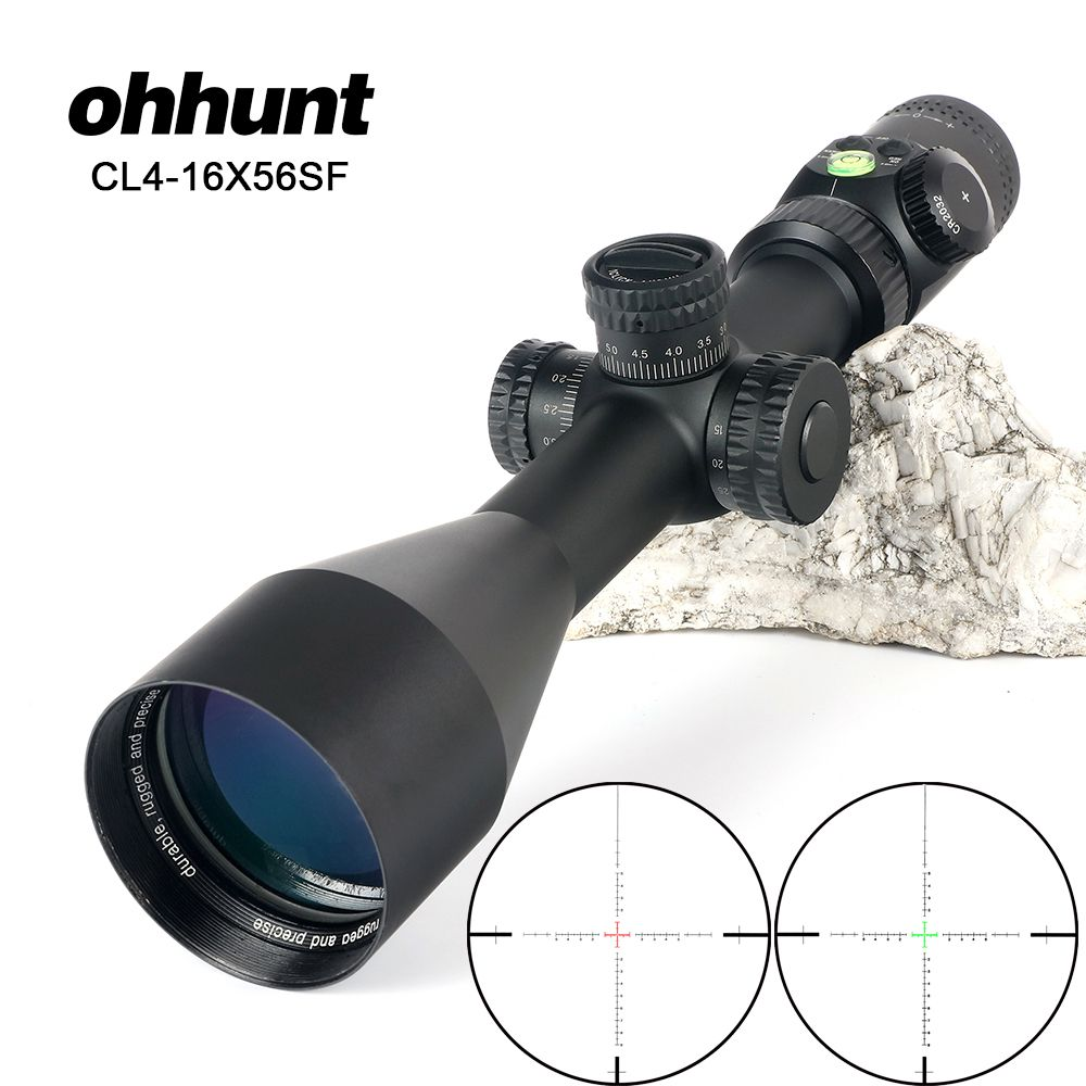 ohhunt CL 4-16X56 SF Hunting Optical Sights Red Green Illuminated Glass Etched Reticle Riflescope Side Parallax Tactical Scope