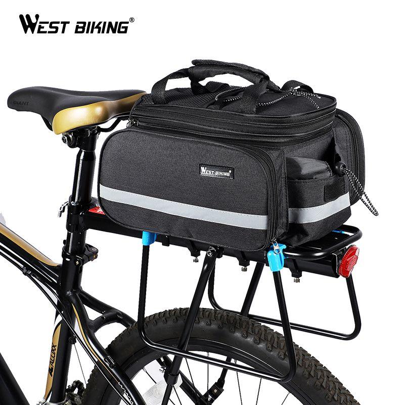 WEST BIKING Bicycle Bags Large Capacity Waterproof Cycling Camel Bag Mountain Bike Saddle Trunk Bags Luggage Carrier Bike Bag