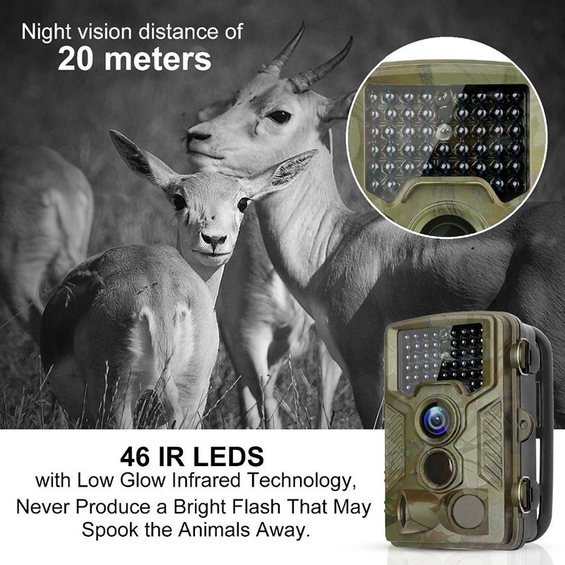 HC800A Hunting Trail Camera Full HD 12MP 1080P Video Wild Night Vision Camera Trap Scouting Infrared IR Trail Camera Trap
