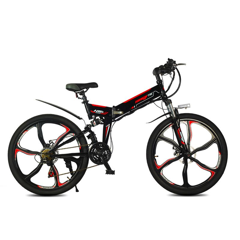 Electric mountain bicycle newest meter display 350w high speed motor smart lcd 48V fold ebike pas 60km-80km electric bike LED