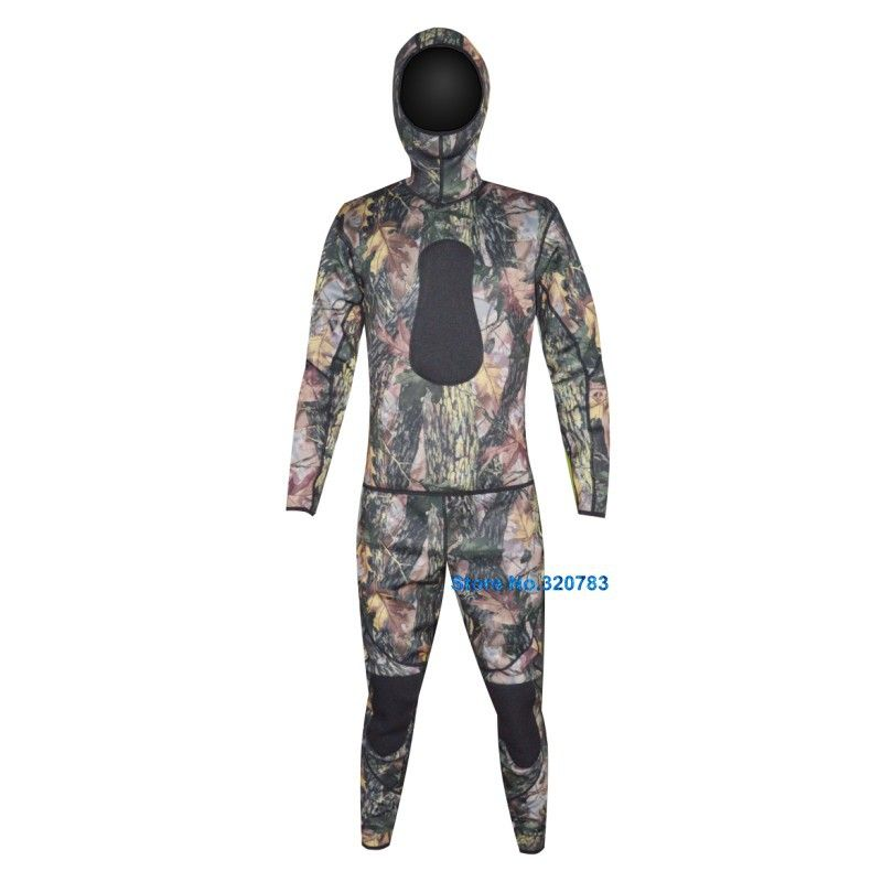 5mm Open Cell Rubber Neoprene Camouflage Spearfishing Wetsuit Wet suit Wetsuits for Underwater Hunting Men Women WS-01-5