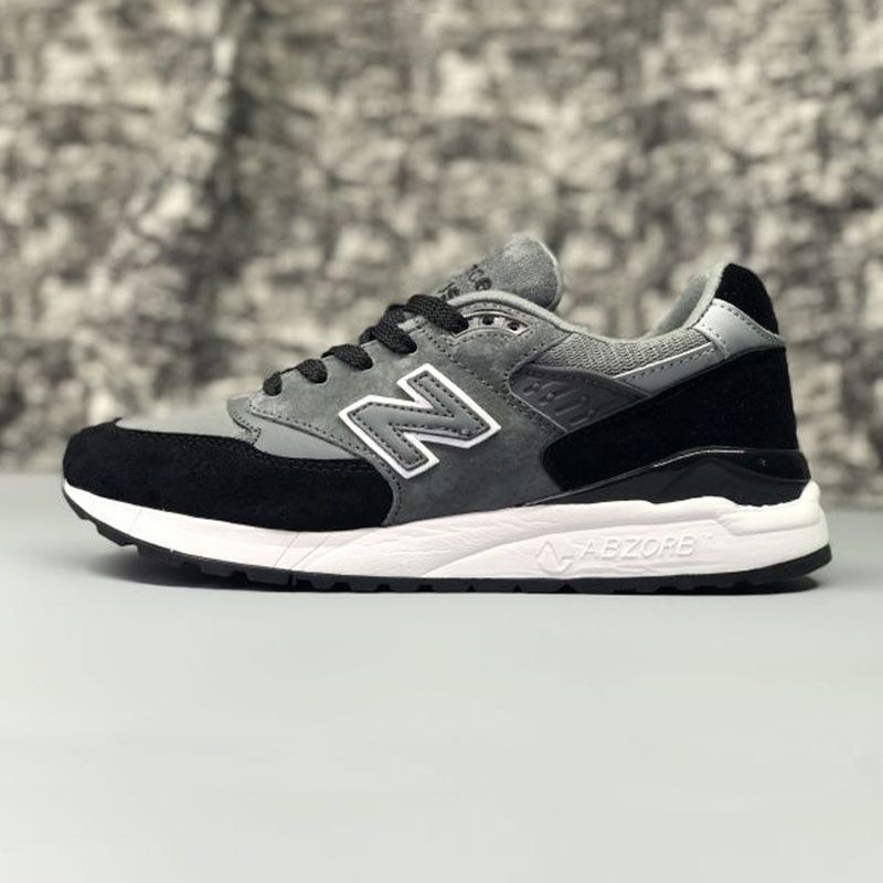 NEW BALANCE MS998S Couple Shoes Breathable Jogging Lightweight Black White Mixture 36-44 6 Colors