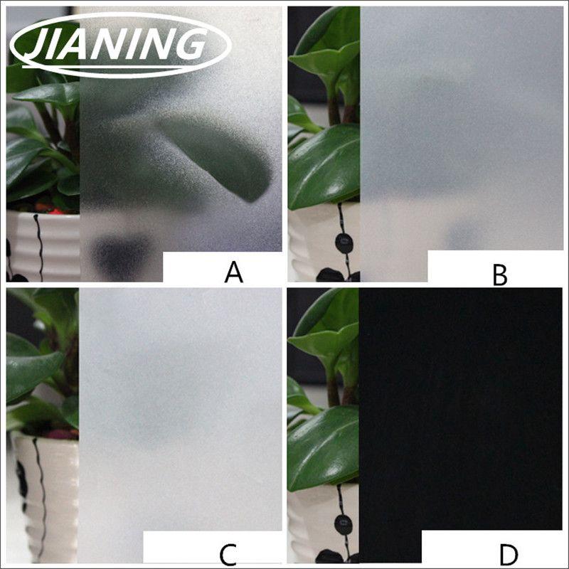 80 cm large * 200 Pur givré verre film Translucide opaque fenêtre film feuille bureau grill fenêtre salle de bains en verre autocollants raamfolie