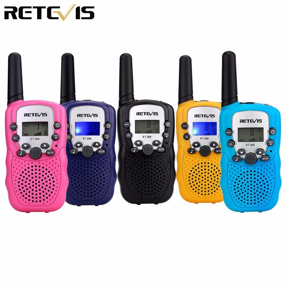 2 pcs Mini Talkie Walkie Enfants Radio Retevis RT388 0.5 w FRS/PMR 446 UHF Fréquence Portable à Deux Voies radio Cadeau A7027