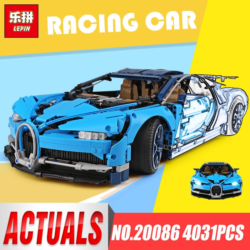 DHL Lepin 20086 Technic legoinys 42083 Blue bugatti chiron legoingys Racing Car Sets Building Blocks Bricks Toys lepin Car Gifts