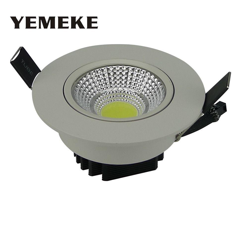 Économie d'énergie COB Downlight Dimmable 5 w 10 w 20 w LED Plafonnier Encastré Ampoule Lumineuse Superbe de L'appareil D'éclairage de Tache lampe d'éclairage d'inondation