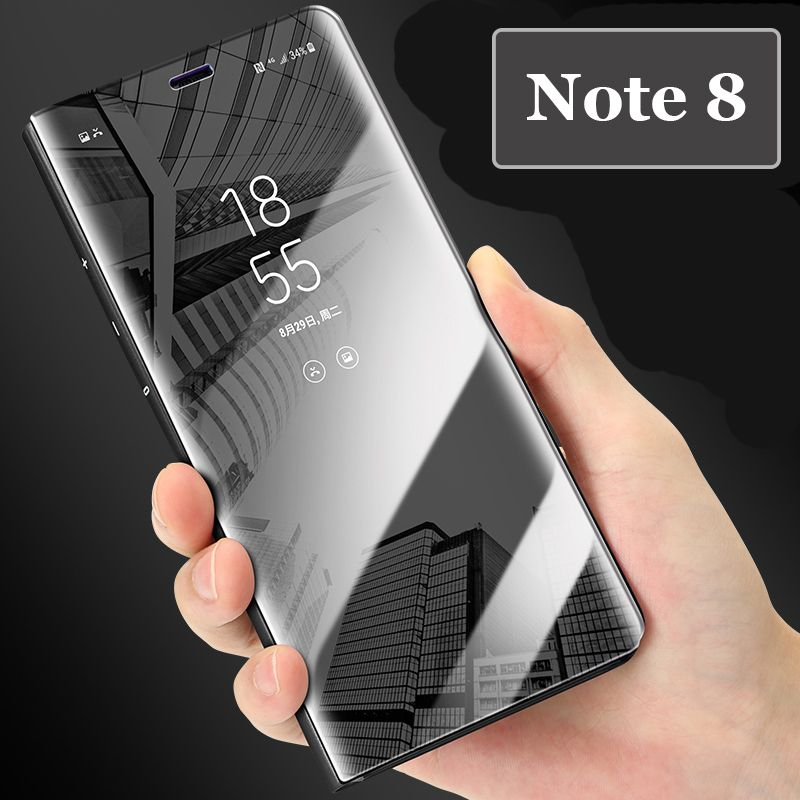 Mirror Clear View Plating Leather Stand Case For Samsung S6 S7 Edge S8 J7 Plus Note 8/5 A3 A5 A7 A8 J2 Prime J3 J5 J7 Pro 2017