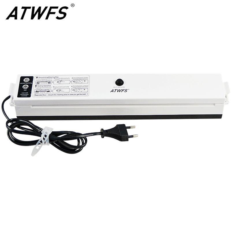 ATWFS Best Vacuum Sealer Packaging Food Vacuum Packer Sealing Packing Machine 220V/110V Including 15pcs Bags Free