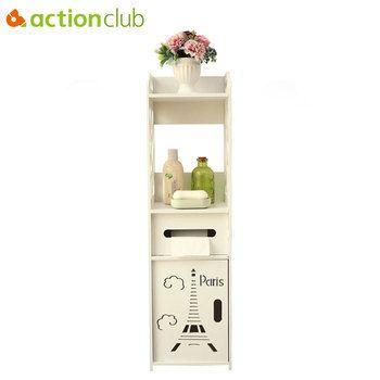 Actionclub напольный шкаф для хранения угловой шкаф для столика с раковиной ванная комната боковой шкаф полотенца коробка полка для туалета меб...