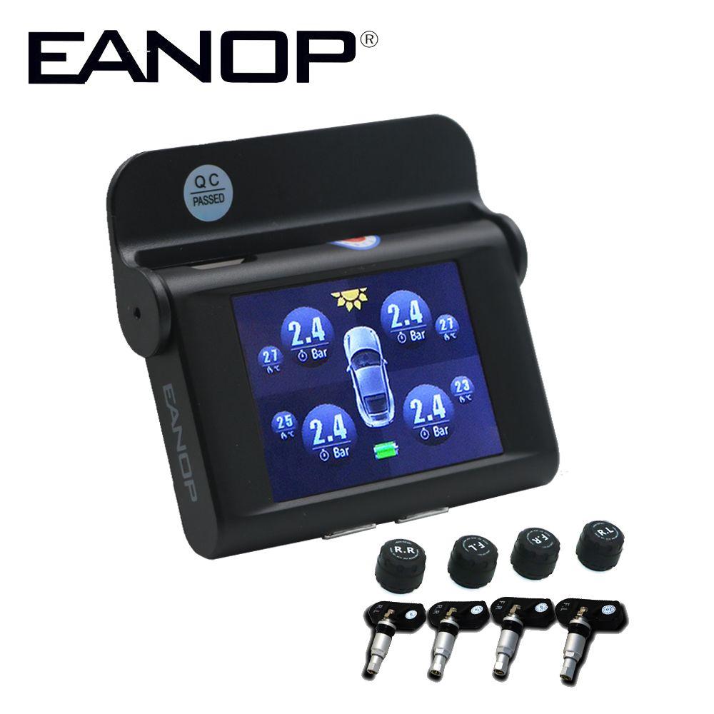 EANOP S368 TPMS Solaire 2.4 pouces Système de Surveillance De Pression De Pneu de Voiture 4 pièces Interne Capteurs Externes ADAS D'alarme Pour Les Voitures Universelles