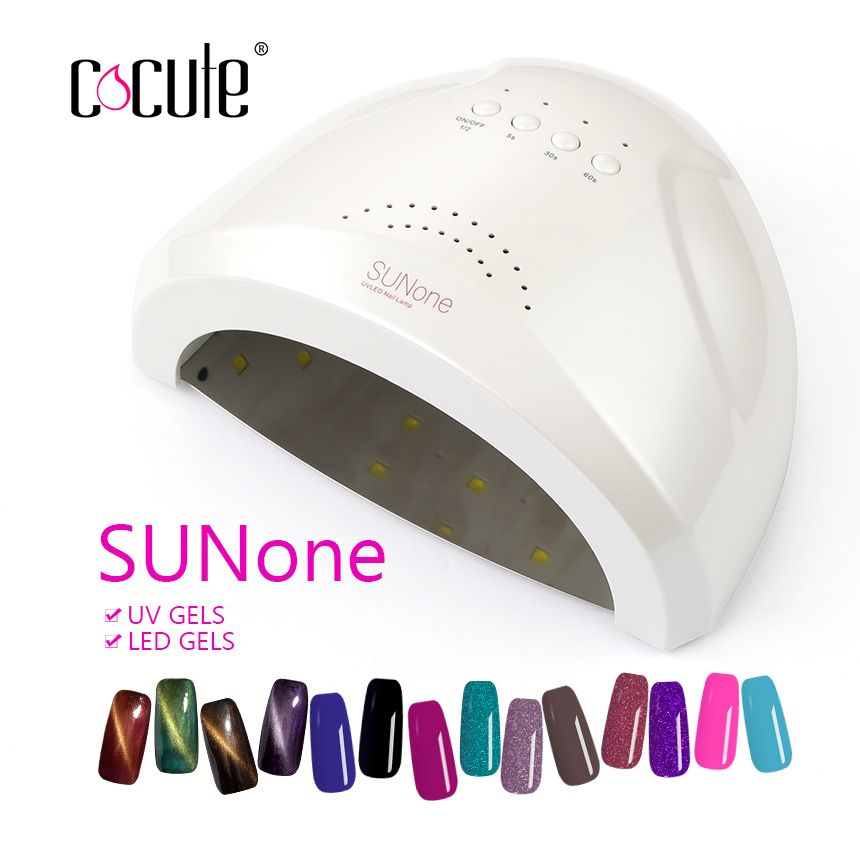 SUN Nail Lamp Professional White Light Magnetic Removable Bottom 48W UV LED Dryer Curing Gel Nail Polish Nail Art Manicure Tool