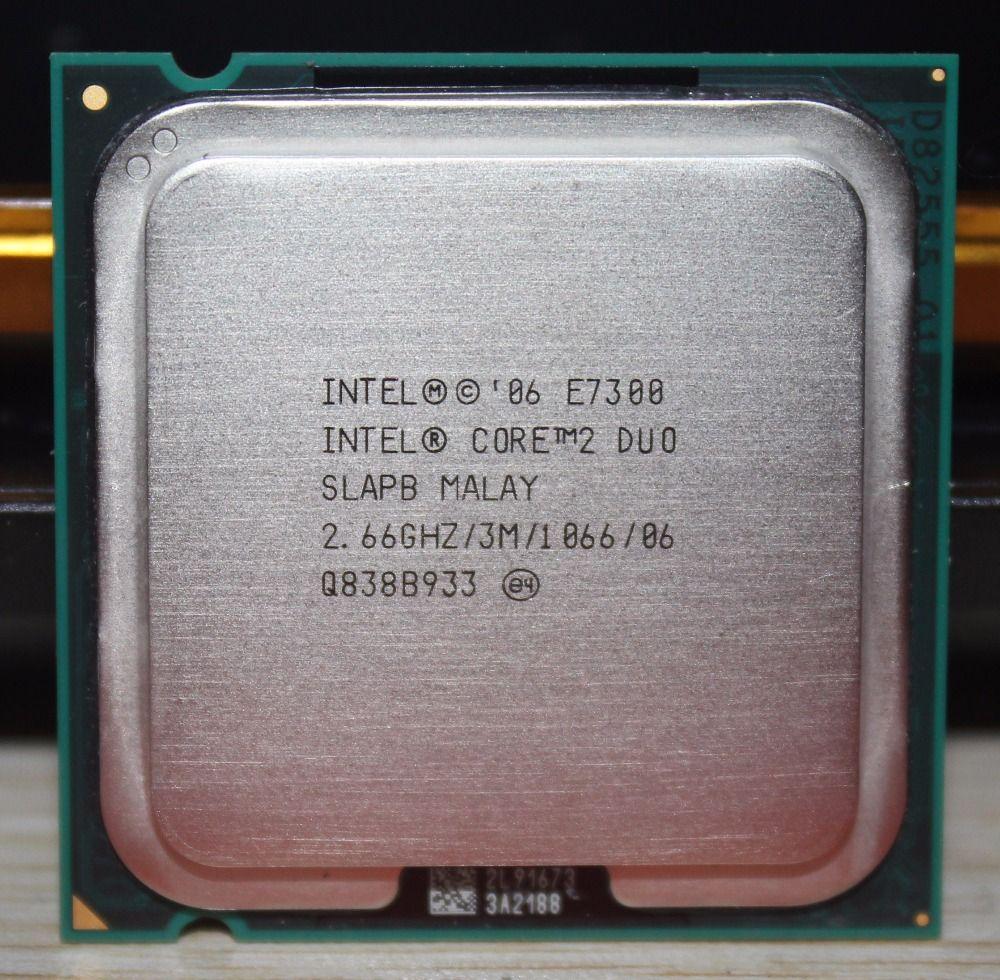 Original Intel CPU Core2 DUO E7300 CPU 2,66 GHz LGA775 3 MB L2 Cache/Dual-CORE