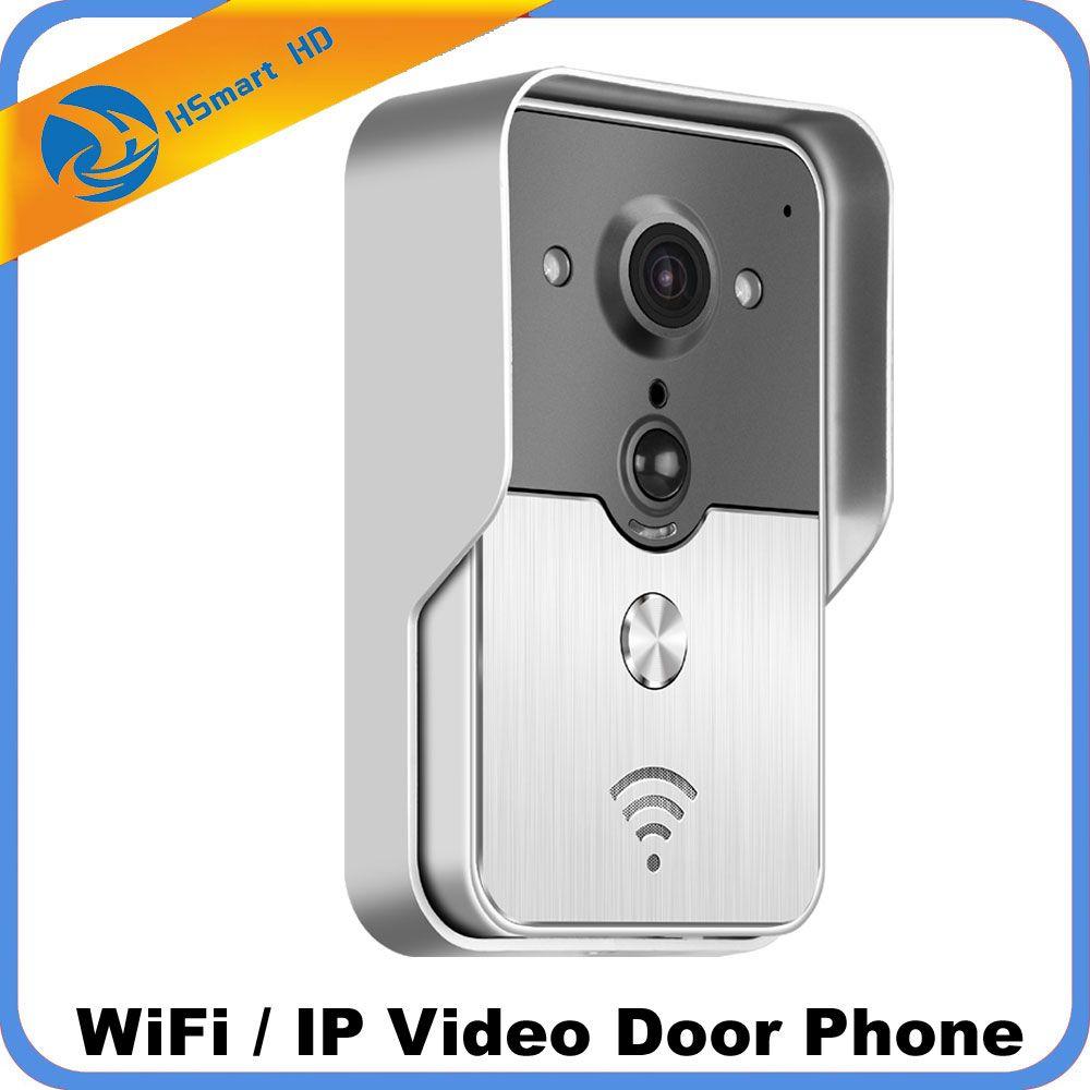 Wifi Teléfono Video de La Puerta de Campana de Intercomunicación Inalámbrica Tarjeta SD de la Ayuda POE fuente de alimentación Wifi 3G IOS Android para iPad Tableta Del Teléfono Inteligente