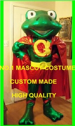 Frog Superhero Mascot Costume Adult Super Hero Frog Theme Anime Cosply Dress Carnival Party Birthday Fancy Dress Mascotte 1769